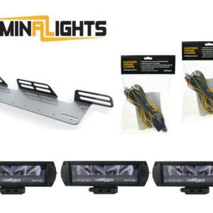 LED-lisävalosetti 3 x 40W Predator X2