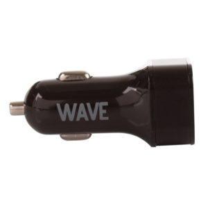 WAVE Musta autolaturi QUALCOMM 3.0 + 2USB
