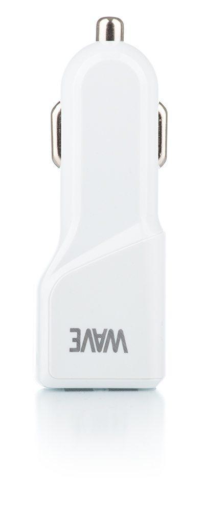 WAVE Valkoinen autolaturisovitin 4.8A