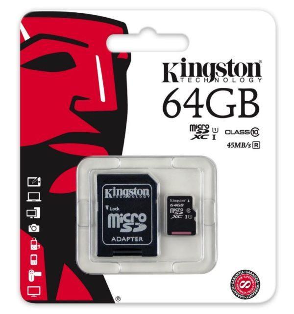 Muistikortti Kingston MicroSD 64GB