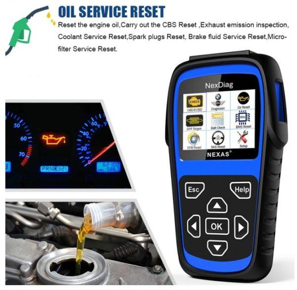 NEXDIAG ND601 BMW Oil reset
