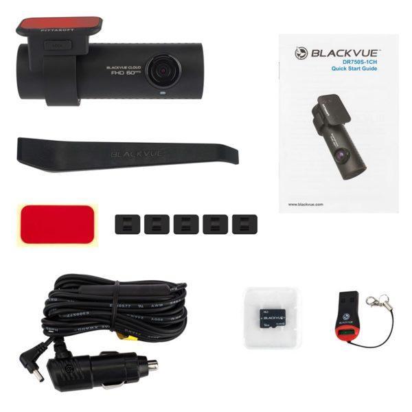 BLACKVUE DR750S 1CH pakkaussisältö