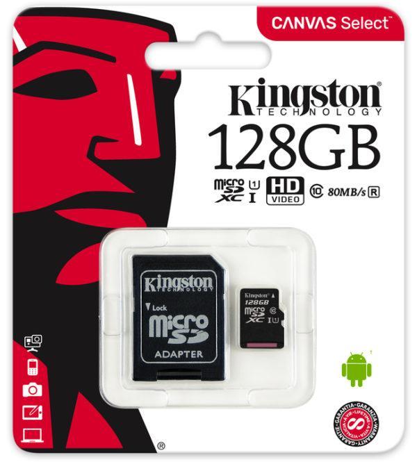 Muistikortti Kingston MicroSD 128GB