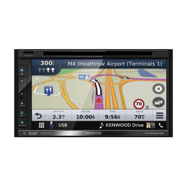 Kenwood DNX5190DABS Garmin navigointi
