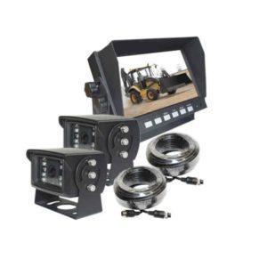 Peruutuskamerasarja ammattikäyttöön 24v 7 näyttö ja kaksi kameraa