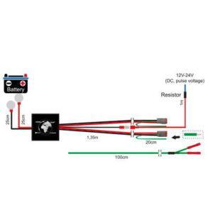 Kytkentäsarja kahden parkki lisävalon asennukseen, DT3-liittimet