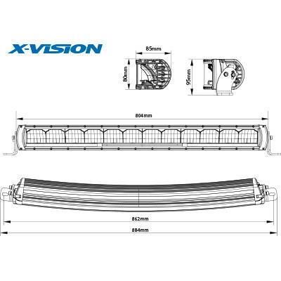 LED-lisävalo X-Vision Genesis 800 6