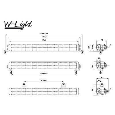 LED-lisävalo W-Light Impulse III 5